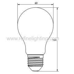 LED A55 glass bulb 400lm after 30mints