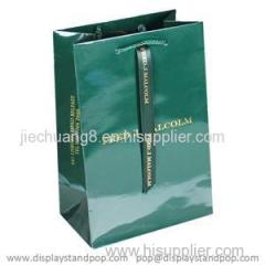Luxury Gloss Gift Paper Bags with Gold Hot Foil Printing