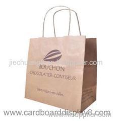 Professional Custom-made Brown Kraft Shopping Bag With Twist Handle
