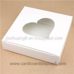 Cute Chocolates and Candies Paper Packaging Box with a Heart Shaped Window