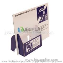 Custom Advertising Portable Cardboard Brochure Dispensers