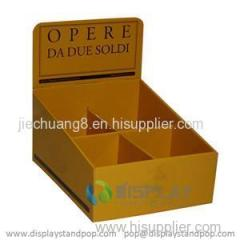 Advertising Counter Display with 2 Dividers for Supermarket Promotion