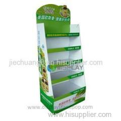 Floor Retail 5 Tier Cardboard Medicine Display Shelf