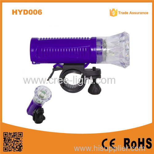 2015 New Product HYD006 Cheapest 1W LED Dimond safety bike front head light