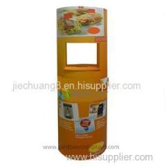 Food Promotional Cardboard Totem Lama Displays with a Tables in the Middle
