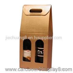 The Top Grade Exquisite Cardboard Red Wine Paper Box