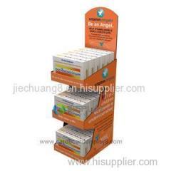 The Customized Floor Cardboard Medicine Display Racks