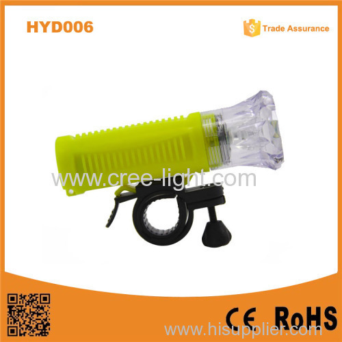 2015 New Product HYD006 Cheapest 1W LED Dimond plastic led bicycle front light