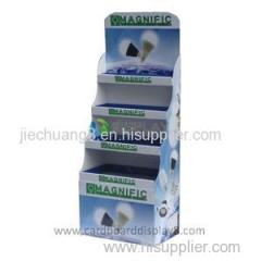 Custom full color printing retail storecardboard led display Floor Standing
