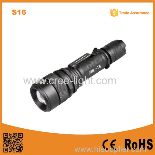 S16 Waterproof Rechargeable Zoom Dimmer High Power tactical hunt torch