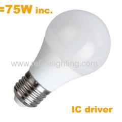 IC driver 10W 800lm LED A60 bulb