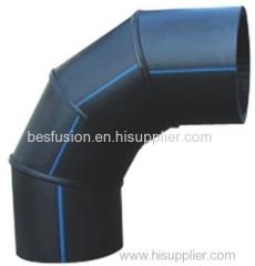 HDPE изготовлены локоть 90deg 4 сегментов ре фитинги