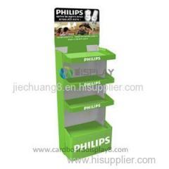 Supermarket Flooring Cardboard Display Shelves for LED Promotion