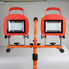 new multi-function 20W*2 tripod rechargeable LED lamp solar light