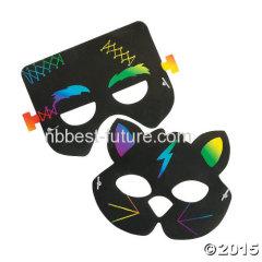 DIY Scartch art mask