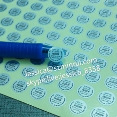 Custom Water Proof Round Matte Silver PET Vinyl Stickers Round Silver PET Vinyl Labels In Sheets