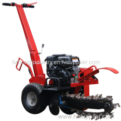 7hp or 15hp max trench depth 600mm trencher machine