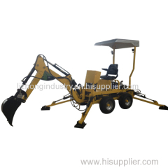 Gasoline or diesel engine mini tractor and backhoe