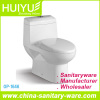 Super Rotation Type Siphonic One Piece Water Closet Ceramic Toilet