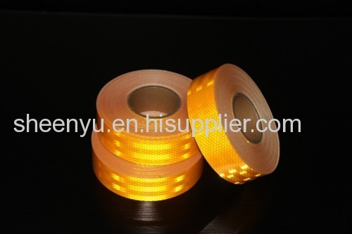 Yellow diamond grade reflective tape for truck