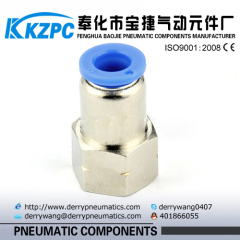 PCF Femail Threaded Direct Way Pipe Fitting/Tube Fitting