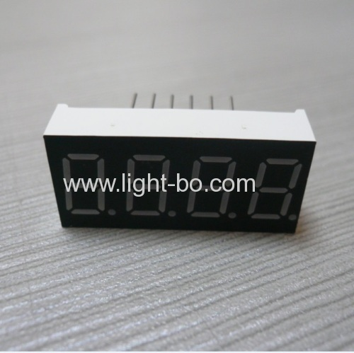4 digit 0.36  ultra bright blue 7 segment led display common cathode