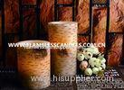 Birch Finish Straight Edge Flameless LED Pillar Candles / Battery Operated LED Candle