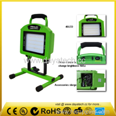 factory price 40LEDs work light 20W rechagerable led outdoor flood lights
