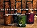 Flameless LED Glass Votive Candles With Wax And Built-in Tealight for Home Decoration