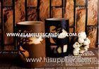 Flameless 2 Layer Carved LED Decorative Pillar Candles With Chrismas Pattern