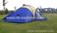 Big family camping tent with 3 rooms