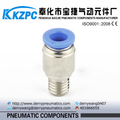 male sliencer pneumatic fitting quick connector fitting