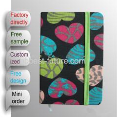 Fabric handmade diary notebook