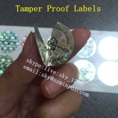 Uncopied One Time Use Destructible Asset Tracing Tag Label Security Evident Fragile Labels