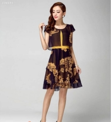 This summer on sale lady fashion chiffon skirt by China dress manufacturers