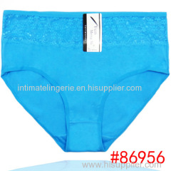 2015 New high waist laced cotton women underwear mama size brief lady panties lady stretch cotton knickers lingerie