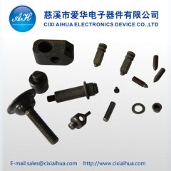 Customized steel parts with black zinc plating