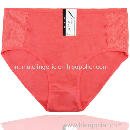 2015 New mama size brief high waist women cotton underwear lady panties lady brief stretch knickers lingerie intimate