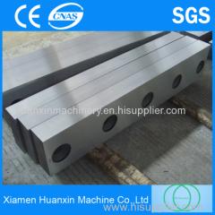 High reflective metallurgical guillotine shear blades