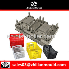custom OEM plastic crate mould with high precision in China
