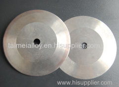 Solid cemented carbide cutting disc