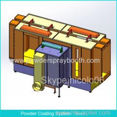 Duplex Manual Powder Coating Spray Booth System