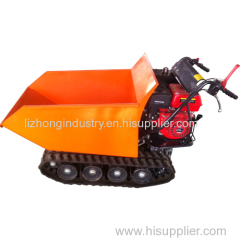 9hp 500kgs load capacity hydarulic tipping self-loading mini transporter