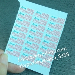 China Manufacturer Mobile Phone Warranty Sticker Self Adhesive Warranty Label With Date and Logo