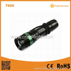 Hot Sale T820 XPE Led bulb Adjustable Focus most powerful led flashlight