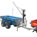 Chine Best 360 degree revolved boom 1.5T load capacity forest log trailer with crane for tractor