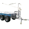 Fully galvanized revolved boom 1.5T load capacity atv log trailer with crane