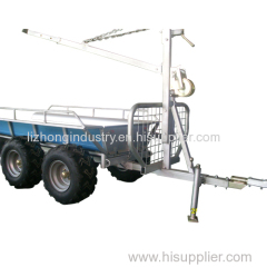 Fully galvanized revolved boom 1.5T load capacity timber trailer with crane