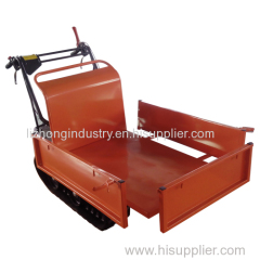 6.5Hp gasoline engine 300kgs load capacity manual tipping mini dumper crawler