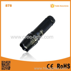 878 10W LED Flash light Torch Adjustable Focus police led torch flashlight